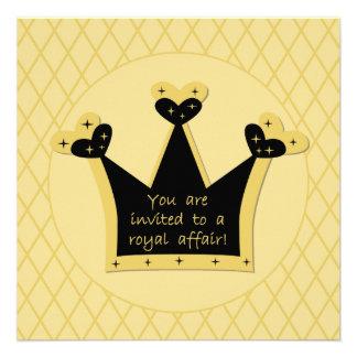 Invitación real del cumpleaños del asunto de la ti
