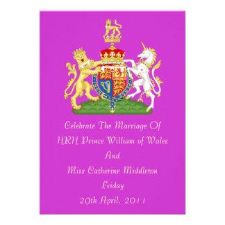 Invitación real del escudo de armas del boda (orqu
