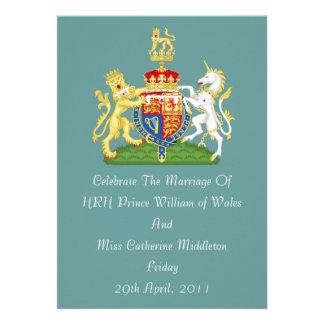Invitación real del escudo de armas del boda (trul