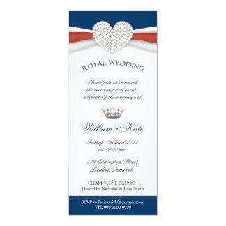 Invitación real del fiesta de casa del boda