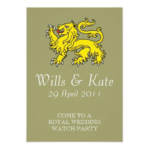 Invitación real del fiesta del reloj del boda
