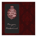 Invitación real roja islámica del boda del