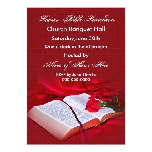 Invitación religiosa de la biblia (seda roja)