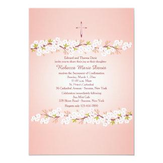Invitación religiosa de la flor de cerezo