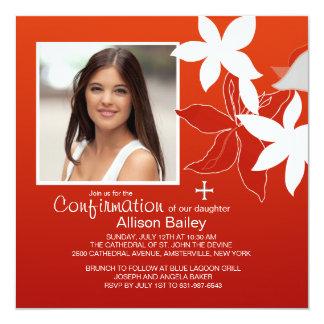 Invitación religiosa de la foto del lirio de la invitación 13,3 cm x 13,3cm