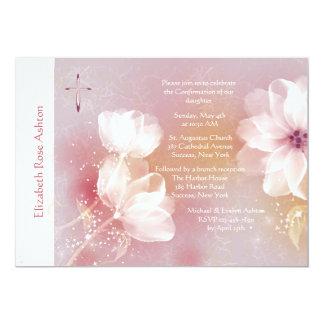 Invitación religiosa de la magnolia blanca
