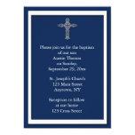 Invitación religiosa de los azules marinos