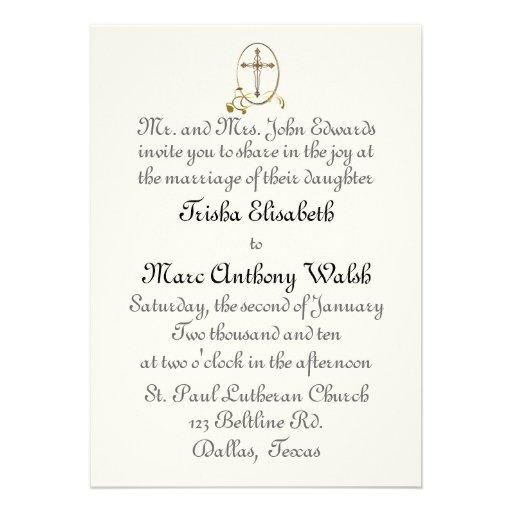 Invitación religiosa del boda