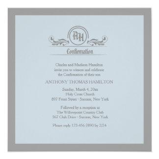 Invitación religiosa del monograma simbólico invitación 13,3 cm x 13,3cm