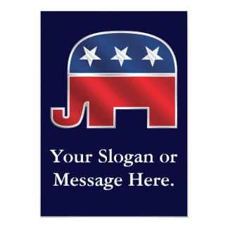 Invitación republicana del personalizado del