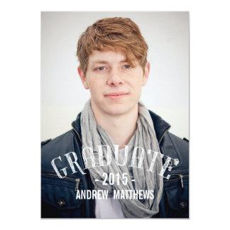Invitación retra 2015 de la fiesta de graduación invitación 12,7 x 17,8 cm