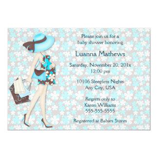 Invitación retra azul de la fiesta de bienvenida
