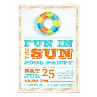 Invitación retra colorida de la fiesta en la