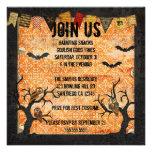 Invitación retra de Halloween de los noctámbulos
