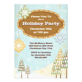 Invitación retra de la celebración de días festivo