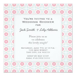 Invitación retra de la ducha del boda - pomelo
