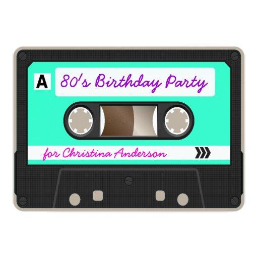 Invitación retra de la fiesta de cumpleaños de la