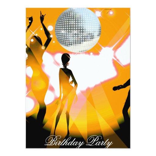 Invitación retra de la fiesta de cumpleaños del invitación 16,5 x 22,2 cm