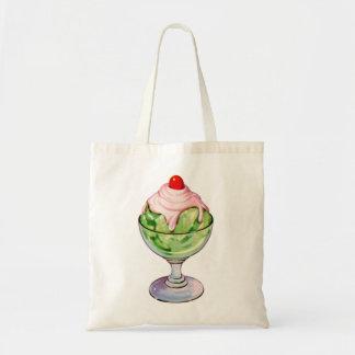 Invitación retra de la fuente de soda del helado d bolsa tela barata
