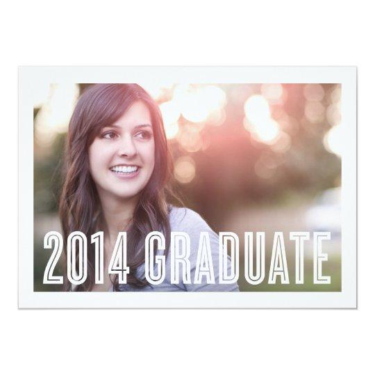 Invitación retra de la graduación del graduado el