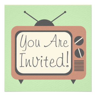 Invitación retra de la televisión