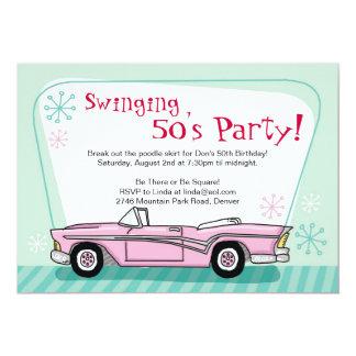 Invitación retra de los años 50