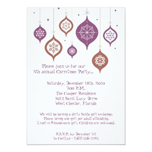 invitación retra de los ornamentos del navidad de