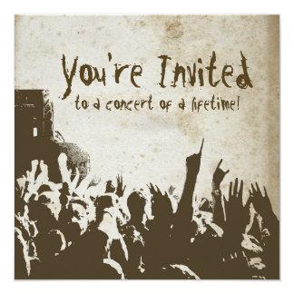 Invitación retra del concierto de rock