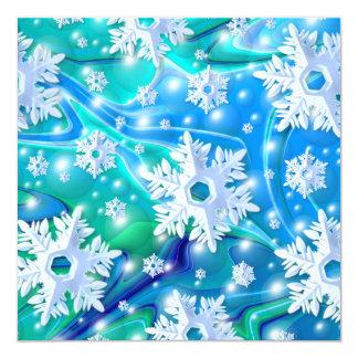 Invitación retra del día de fiesta de la nieve