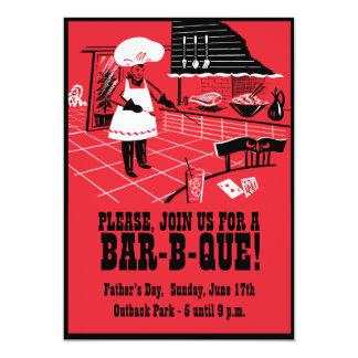 Invitación retra del fiesta de la Barra-b-Que -