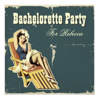 invitación retra del fiesta del bachelorette del