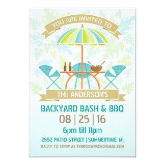 Invitación retra del fiesta del verano