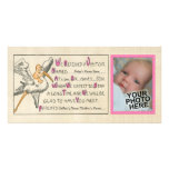 Invitación retra del nacimiento de los padres de l tarjetas fotograficas personalizadas