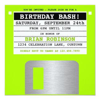 Invitación retra divertida del fiesta del disco