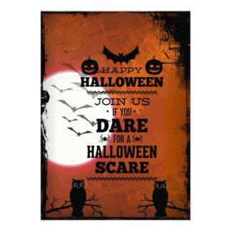 Invitación retra fresca del fiesta de Halloween de