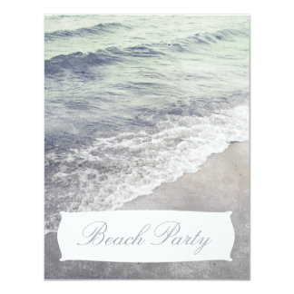 Invitación retra hermosa del fiesta de la playa