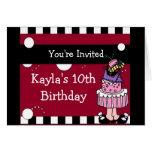 Invitación revuelta de la torta de la diversión tarjeta pequeña