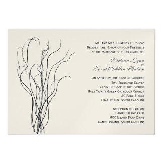 Invitación rizada del boda del sauce invitación 12,7 x 17,8 cm