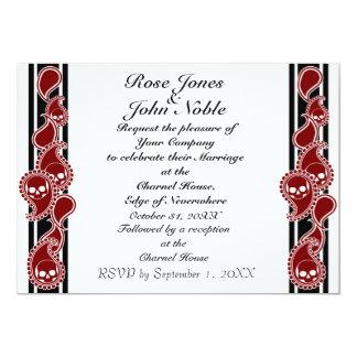 Invitación (roja) anversa del boda