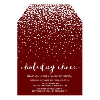 Invitación roja blanca de la celebración de días