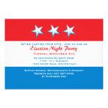 Invitación roja, blanca y azul del fiesta del día