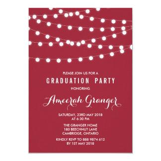 Invitación roja de hadas blanca de la graduación