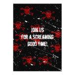 Invitación roja de Halloween del gótico de los