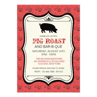 Invitación roja de la Barra-b-Que del pañuelo