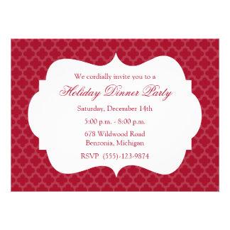 Invitación roja de la celebración de días festivos