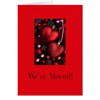 Invitación roja de la dirección de los ornamentos tarjetas