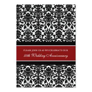 Invitación roja de la fiesta de aniversario del