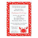 invitación roja de la fiesta de bienvenida al bebé invitación 12,7 x 17,8 cm