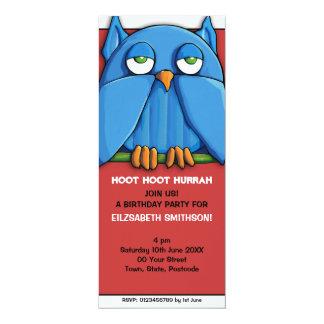 Invitación roja de la fiesta de cumpleaños del invitación 10,1 x 23,5 cm