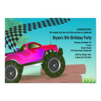 Invitación roja de la fiesta de cumpleaños del invitación 12,7 x 17,8 cm